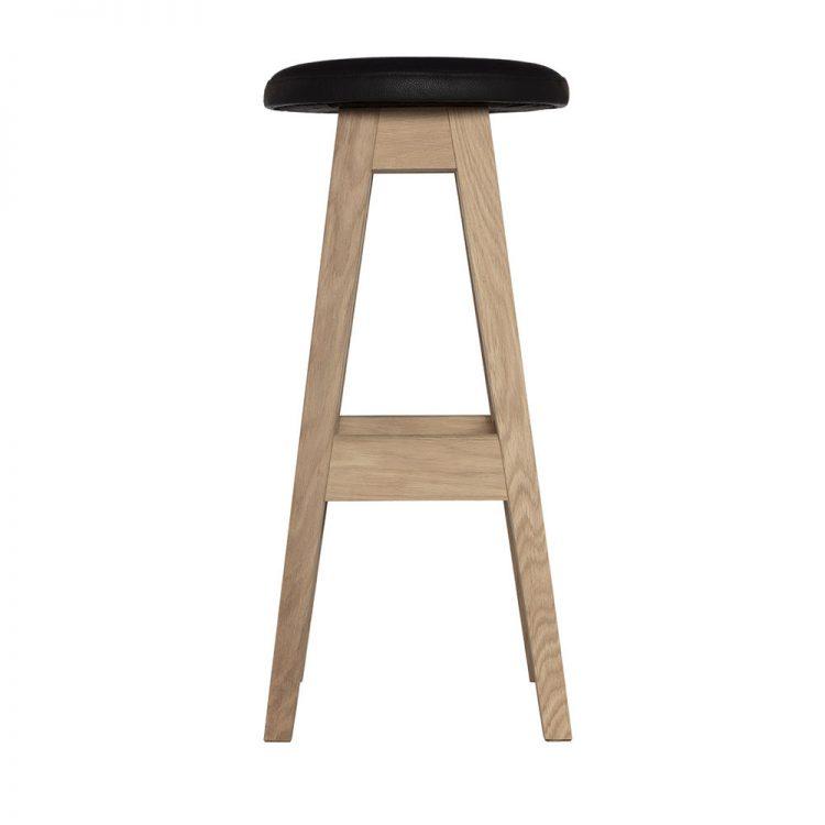 Jaccaralla stool black leather