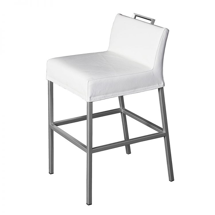 Jazz bar chair white leather