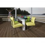 Mobile dining set on verandah