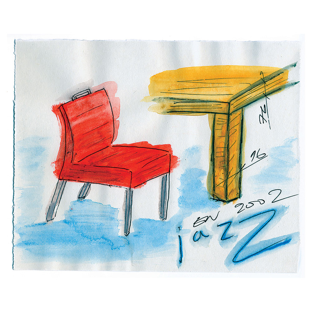 Jazz chair drawing